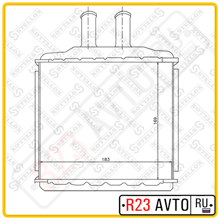 Радиатор печки STELLOX 10-35105-SX (CHEVROLET Lacetti)