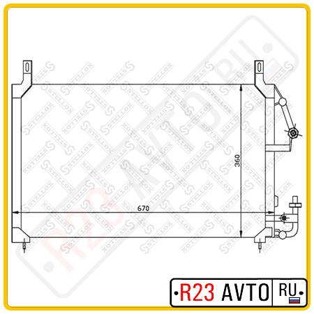 Радиатор кондиционера STELLOX 10-45017-SX (DAEWOO Nexia)