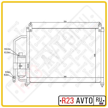 Радиатор кондиционера STELLOX 10-45042-SX (DAEWOO Lanos)