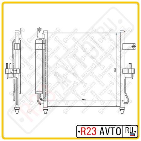 Радиатор кондиционера STELLOX 10-45043-SX (HYUNDAI Accent)