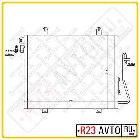 Радиатор кондиционера STELLOX 10-45175-SX (RENAULT Logan)
