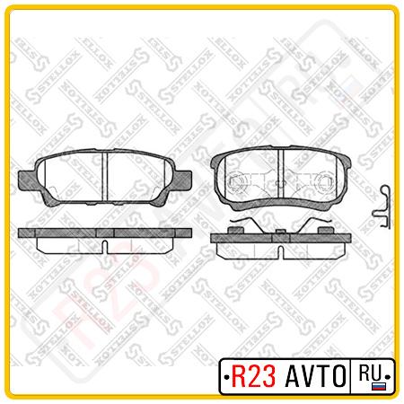 Колодки тормозные задние STELLOX 1062 002-SX