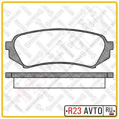Колодки тормозные передние STELLOX 715 010B-SX (715 000-SX) <410602F525>