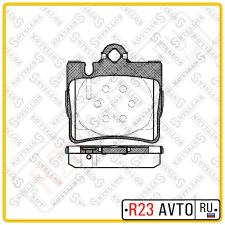 Колодки тормозные передние STELLOX <0034200620> 781 000B<L>-SX (S-Class W220)