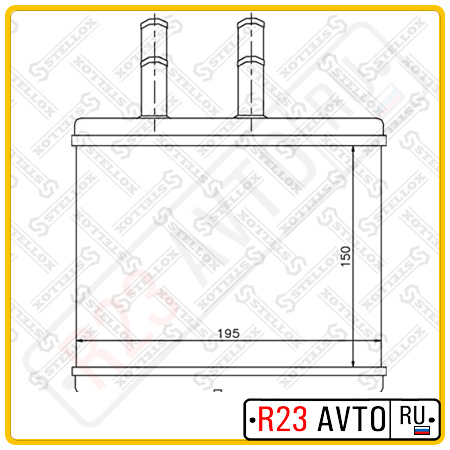 Радиатор печки STELLOX 82-05014-SX (CHEVROLET Aveo)