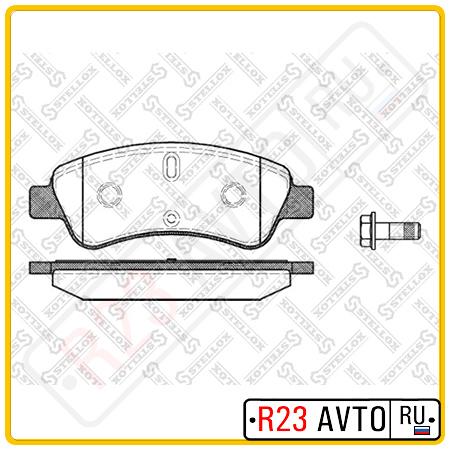 Колодки тормозные передние STELLOX 851 010B-SX <425218>