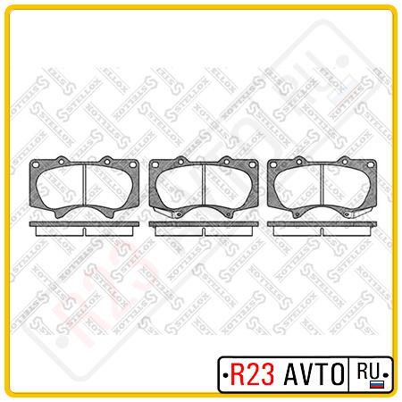 Колодки тормозные передние STELLOX 999 000-SX <0446602060>