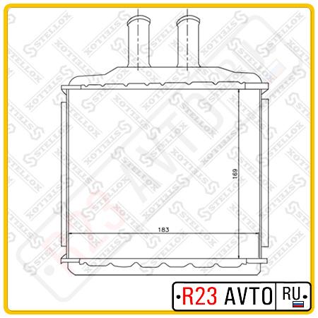 Радиатор печки TERMAL 116511 (DAEWOO Nexia)