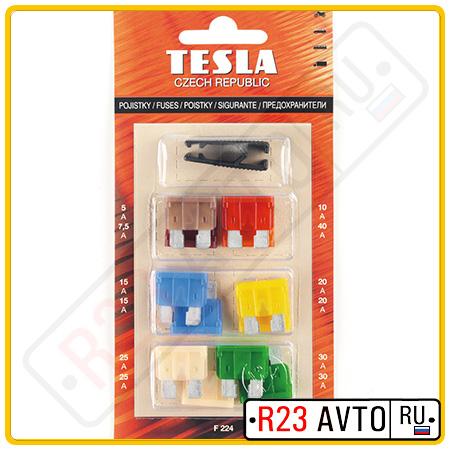 Набор предохранителей <FT> TESLA F224 флажки+ пинцет (12шт)