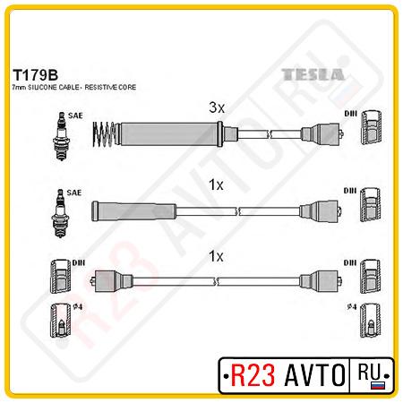 Провода высоковольтные TESLA T179B