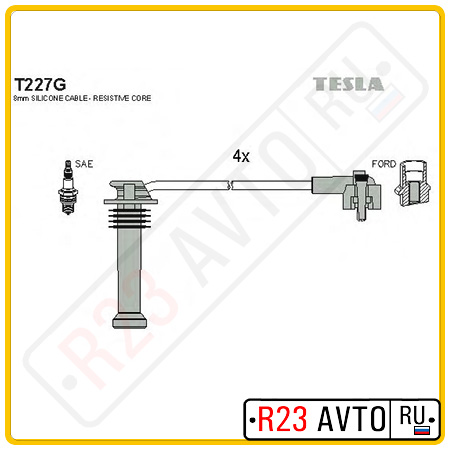 Провода высоковольтные TESLA T227G (FORD Mondeo, Fiesta)