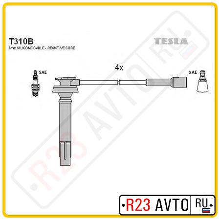 Провода высоковольтные TESLA T310B (SUBARU Legasy,Forester,Impreza 2.0/2.5i 98)