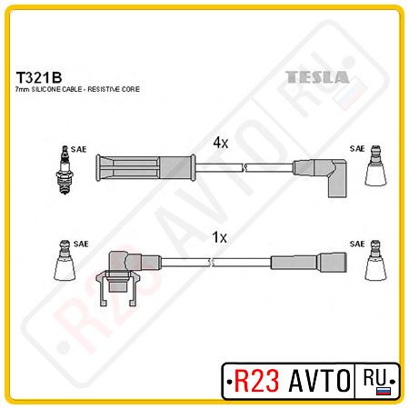 Провода высоковольтные TESLA T321B (RENAULT Megane/Clio 1.2/1.4L 99-)
