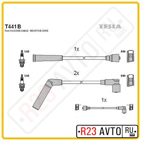 Провода высоковольтные TESLA T441B (DAEWOO Matiz I 0.8L 98-)