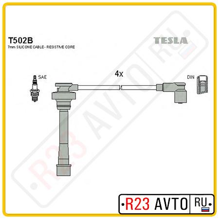 Провода высоковольтные TESLA T502B (MITSUBISHI Carisma, Colt, Galant, Lancer)
