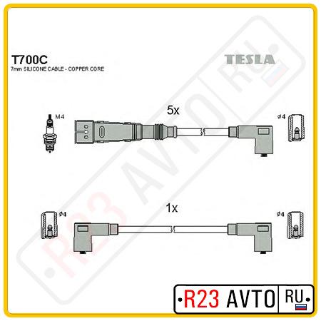 Провода высоковольтные TESLA T700C