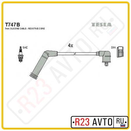 Провода высоковольтные TESLA T747B (HYUNDAI Accent, Getz)