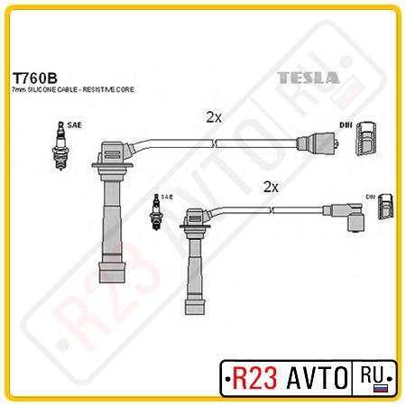 Провода высоковольтные TESLA T760B (MAZDA 626 1.8L 91-97)