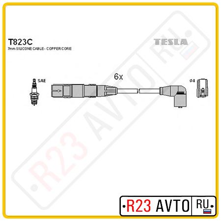 Провода высоковольтные TESLA T823C (VW Golf 3, Passat/FORD Galaxy)