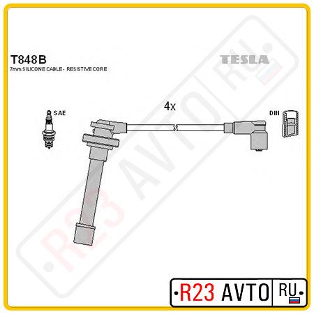 Провода высоковольтные TESLA T848B (NISSAN Almera N15, Primera P11)