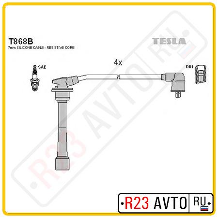 Провода высоковольтные TESLA T868B (KIA Sportage/HYUNDAI Tucson/Elantra/Tiburon)