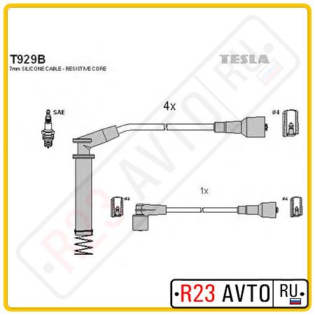 Провода высоковольтные TESLA T929B (OPEL Astra F, Vectra A)
