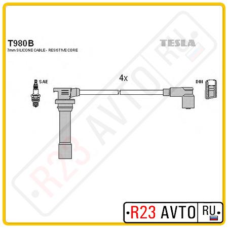 Провода высоковольтные TESLA T980B (MAZDA 323 94-98)
