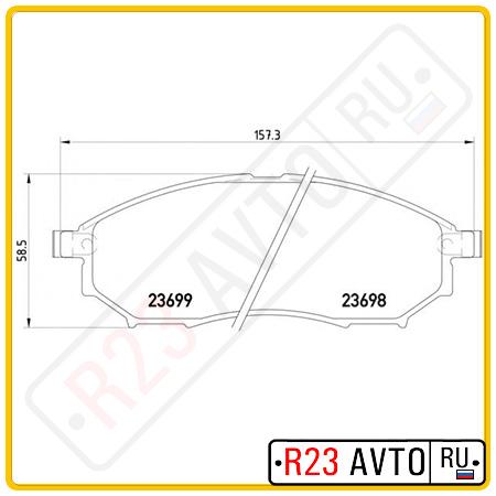 Колодки тормозные передние TEXTAR 2369801