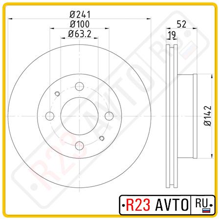 Диск тормозной передний TEXTAR 92128500
