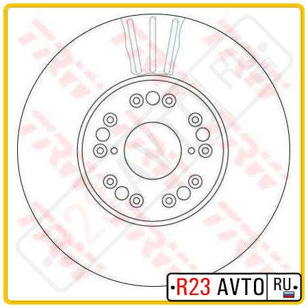 Диск тормозной передний TRW DF4182