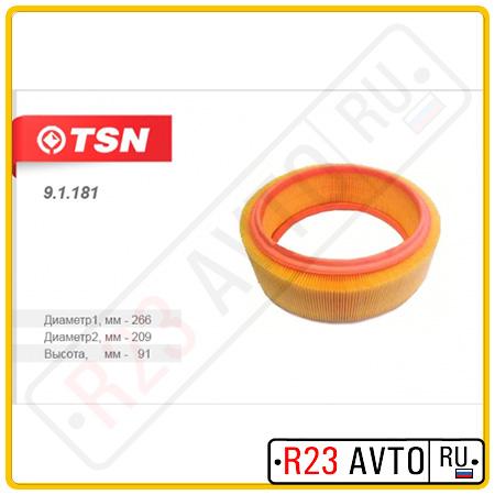 Воздушный фильтр TSN 9.1.181 (RENAULT Logan)