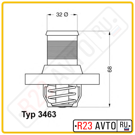 Термостат WAHLER 3463.89D (GATES TH21689G1)